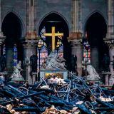 En video | Así amaneció el interior de Notre Dame luego de sofocado el fuego