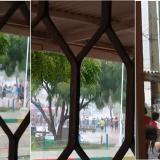 En video | Cae la lluvia y vuelven los enfrentamientos a piedra en El Valle