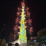 En video   El espectacular recibimiento del año nuevo en el Burj Khalifa de Dubái