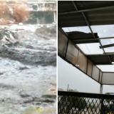 En video   Arroyo desbordado y casas destechadas tras aguacero en Soledad