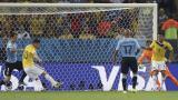 Imagen del segundo gol colombiano.
