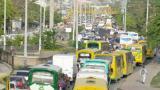 Con desmanes en algunos sectores, se realizó el paro de taxistas en Cartagena