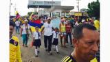 Marchan en Paraguachón para exigir la presencia del presidente Santos en la frontera