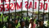 Policía ingresa a colegio de Las Misericordias para permitir la entrada de nueva rectora