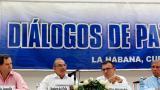 De izquierda a derecha, el alto comisionado para la paz, Sergio Jaramillo; el jefe del equipo negociador de Gobierno, Humberto de la Calle; el expresidente del Senado, Roy Barreras, y el excomandante del Ejército de Colombia, Jorge Enrique Mora Rangel.