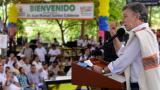 Juan Manuel Santos desde la población de El Retorno