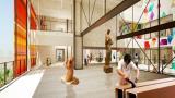 Diseño propuesto para el interior de la Fábrica de Cultura.