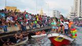 Gozadera total en la bahía de Cartagena