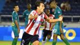 Así fue el  festejo de Sebastián Hernández, autor del gol que le dio el triunfo 2-1 a Junior ante Cortuluá.