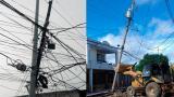 Advierten sobre deterioro de postes en dos barrios de Soledad