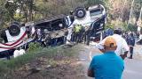 Accidente de bus de Brasilia deja cinco muertos y 15 heridos
