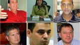Álvaro Ashton, Sandra Villadiego, Martín Morales, Antonio Guerra, Alfredo Ape Cuello y Ciro Rodríguez.