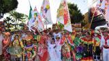 Los reyes del Carnaval durante la ceremonia.