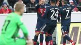 James anota de volea en triunfo del Bayern
