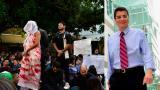 Durante este miércoles se adelantan protestas de estudiantes y docentes.