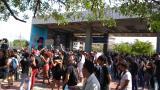 Estudiantes de la Facultad de Bellas Artes protestan tras colapso de techo