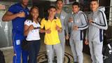 Los pegadores colombianos llegaron ayer a la ciudad.