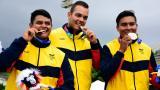 ¡Colombia gana oro en tiro con arco masculino!
