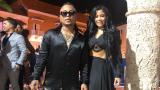 Mr. Black junto a su esposa, Yuranis León.
