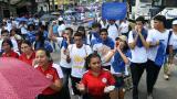 Con plantón, docentes piden al Gobierno incrementar recursos al sector educación