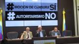 Oposición estudia recurso contra negativa a moción de censura a Minhacienda