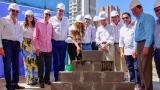 Acto de colocación de la primera piedra del edificio Torre CCI Norte en Barranquilla.