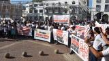 Comerciantes del centro histórico de Cartagena realizan plantón contra la Alcaldía