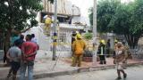 Se desploma techo de una vivienda en el barrio San José