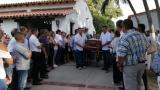 El sepelio del empresario bananero Hali Saghair Granados en Jardines de Paz.