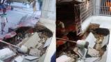 En video   Susto en Las Moras: se despertaron en la madrugada y la terraza se había hundido