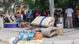 En este parque de Maicao de la calle 16 con carrera 24 permanecieron por 12 horas los indígenas venezolanos.