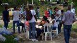 La mancha blanca que 'inunda' las calles de Soledad durante la jornada electoral