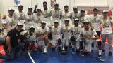Los Titanes de Barranquilla celebrando su segundo título en el baloncesto colombiano.