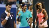 Djokovic, Federer y Serena cumplen en un estreno lluvioso del Abierto de Australia