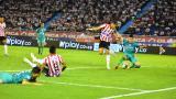 Teófilo Gutiérrez definió de taquito y estuvo a punto de marcar un golazo.