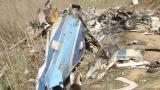 Restos del helicóptero siniestrado en Calabasa.
