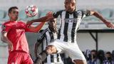 Acción del juego entre Portimonense y Gil Vicente en la reanudación de la Liga de Portugal.
