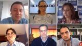 Carlos Felipe Reyes, Erika Fontalvo, Sandra Forero, Luis Gómez y Francisco Seba y Roberto Chaín.