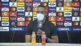 Luis Amaranto Perea, técnico del Junior, en rueda de prensa.
