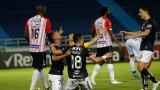 Los jugadores de Independiente del Valle celebrando el único gol que marcaron ante Junior.