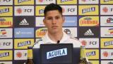 Jorman Campuzano durante la rueda de prensa virtual que concedió en la mañana de este miércoles.
