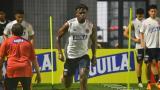 Duván Zapata durante un entrenamiento de la Selección Colombia.