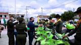 Gobernación entrega 10 motocicletas a Policía del Atlántico
