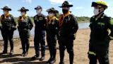 Parque del escuadrones de carabineros que estarán en la Isla Salamanca.