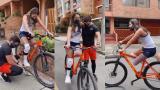 ¡No deja de sorprender! Daniella Álvarez montó en bici y muchos la elogiaron