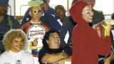 Maradona se mostró muy alegre y amable. Habló con los medios sin problemas y posó para fotos con muchos de los presentes.