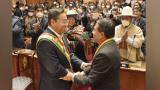 Luis Arce lanza en su investidura duras críticas al Gobierno interino de Áñez