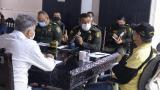 El nuevo comandante de la Policía Metropolitana, general Luis Carlos Hernández, en el consejo de seguridad con el alcalde de Cartagena, Willia, Dau, y el secretario del Interior, David Múnera.