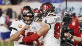 Tom Brady y Rob Gronkowski hacen historia en el Super Bowl LV