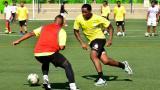 Carlos Carbonero durante uno de los entrenamientos con el equipo de Acolfutpro en Barranquilla.